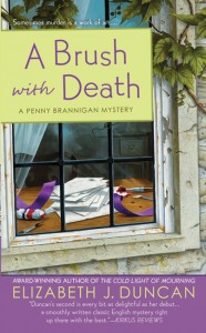 Cover art for A Brush with Death by Elizabeth J Duncan