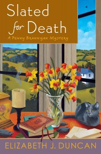 Cover of Slated for Death, the sixth book in the Penny Brannigan Series